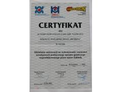 Certyfikat autoryzacji na czynności serwisowe
