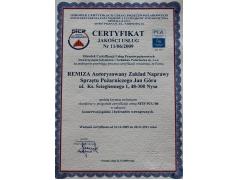 Certyfikat Jakości Usług