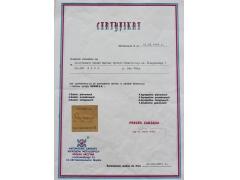 Certyfikat do prowadzenia serwisu w zakresie konserwacji